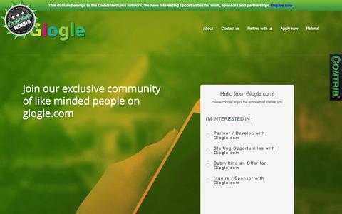 Screenshot of Contact Page giogle.com - Giogle.com - Contact Us - captured July 21, 2015