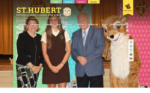 Screenshot of Home Page huberts.org - St Hubert Catholic High School For Girls - captured Oct. 23, 2017