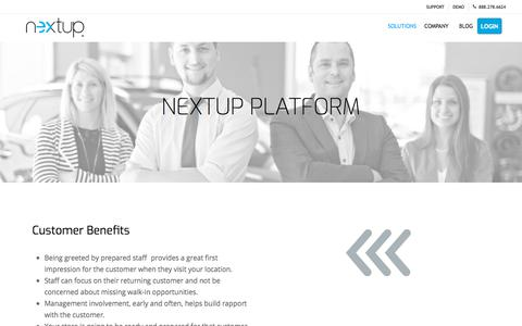 Screenshot of Products Page thenextup.com - Product - Nextup - captured Nov. 11, 2019