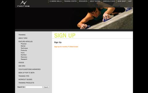 Screenshot of Signup Page nicros.com - Sign Up «  Nicros - captured Oct. 26, 2014