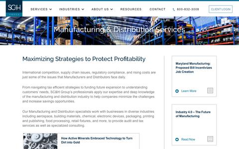 Manufacturing & Distribution Services | SC&H Group