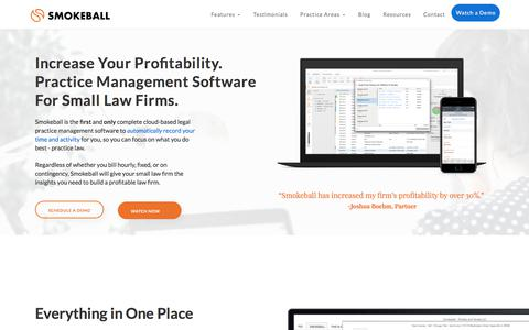 Smokeball Legal Practice and Case Management Software
