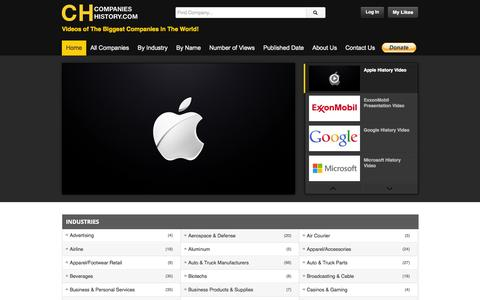 Screenshot of Home Page companies-history.com - Companies History | The biggest companies in the world - captured Oct. 2, 2014