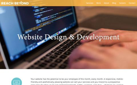 Screenshot of Services Page reachbeyondmarketing.com - Website Design & Development at Reach Beyond - captured Dec. 10, 2016