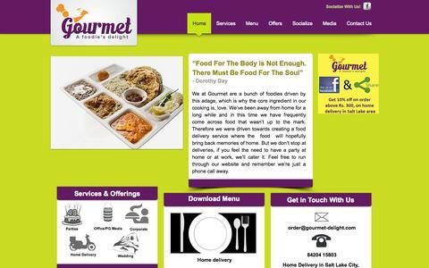 Screenshot of Home Page gourmet-delight.com - Gourmet - Foodies delight - captured Oct. 3, 2014