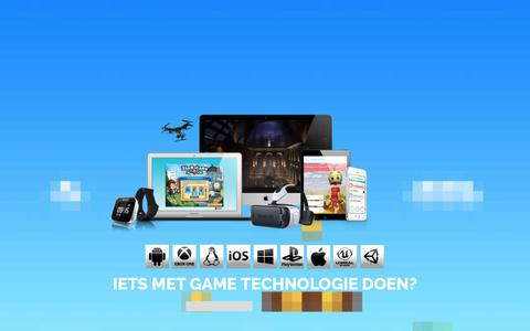 Screenshot of Home Page gamesmaken.com - Games maken – Creative and Applied Technology - captured July 14, 2017