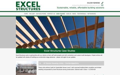 Screenshot of Case Studies Page excelstructures.co.uk - A Range of Recent Projects Undertaken - captured Sept. 29, 2018