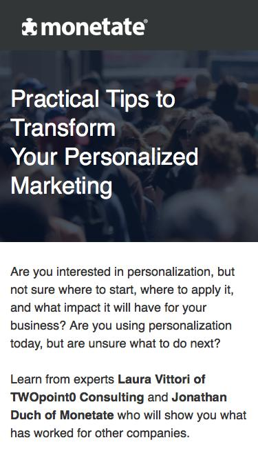 Webinar: Practical Tips to Transform Your Personalized Marketing