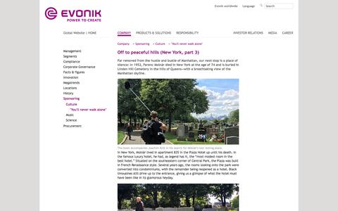 New York 3 - Evonik Industries - Specialty Chemicals