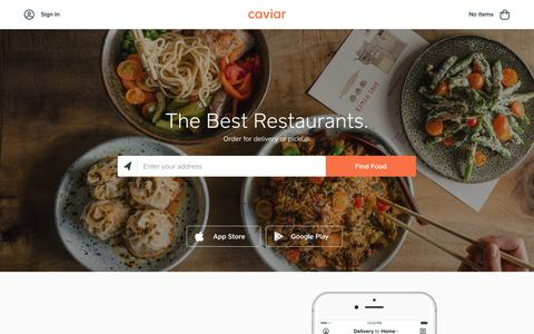 Caviar | Food Delivery from Local Restaurants
