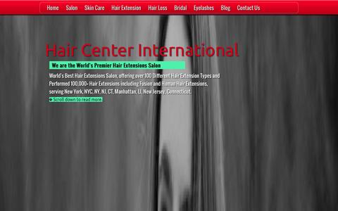 Screenshot of Home Page nychairsalon.com - Hair Extensions - World Famous Hair Extension Salon - captured Jan. 26, 2016