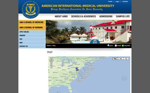 Screenshot of Maps & Directions Page aimu.us - Map | AIMU - captured Sept. 30, 2014