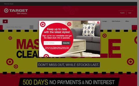 Screenshot of Home Page targetfurniture.co.nz - Target Furniture NZ - captured Feb. 24, 2016