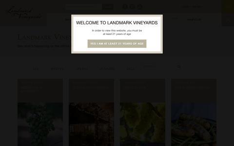 Screenshot of Blog landmarkwine.com - Blog - Landmark Vineyards - captured July 11, 2017