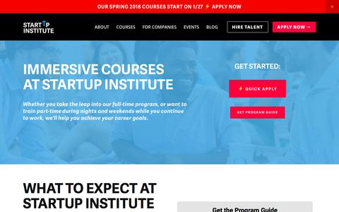 Screenshot of startupinstitute.com - Full and Part-Time Coding, Web Design, Marketing, and Sales Courses | Startup Institute - captured Dec. 31, 2017