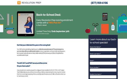 Screenshot of Landing Page revolutionprep.com - Revolution Prep Summer Deal - captured Sept. 23, 2017