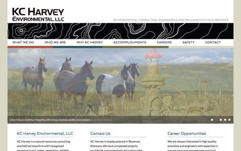 Screenshot of Home Page kcharvey.com - Home   KC Harvey Environmental - captured Aug. 5, 2015