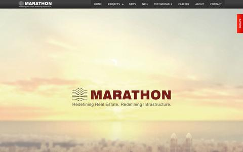 Screenshot of Home Page marathonrealty.com - Marathon Realty | Real Estate Developers based in Mumbai, India - captured Oct. 22, 2015