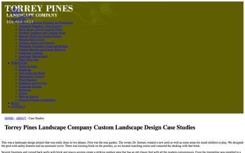 Screenshot of Case Studies Page tplandscape.com - Torrey Pines Landscape Company | Torrey Pines Landscape Company Custom Landscape Design Case Studies - captured Oct. 6, 2014