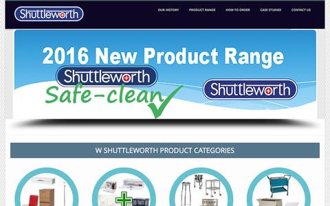 Screenshot of Home Page wshuttleworth.com - W Shuttleworth Hospital Products - Range of Hospital Supplies - captured Feb. 13, 2016