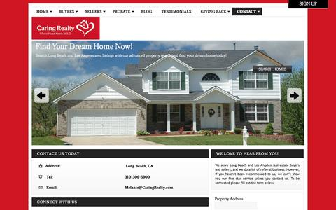 Screenshot of Contact Page caringrealty.com - Contact Information for Caring Realty - captured Jan. 25, 2016