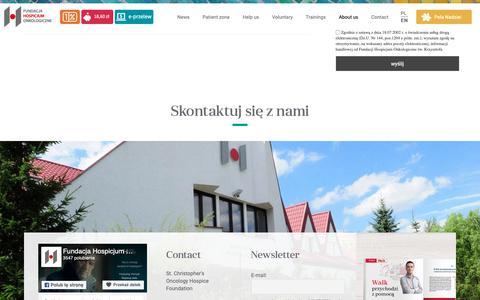 Screenshot of About Page fho.org.pl - FHO – Fundacja Hospicjum Onkologiczne św. Krzysztofa w Warszawie - captured Oct. 11, 2018