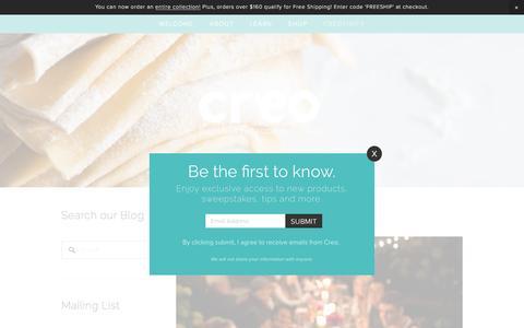 Screenshot of Blog creokitchen.com - Creotivity — Creo - captured July 2, 2016