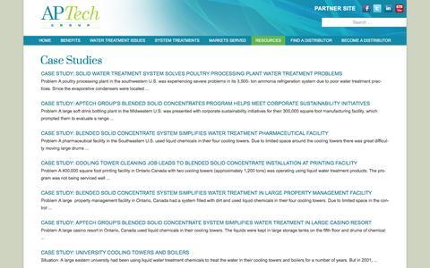 Screenshot of Case Studies Page aptechgroup.com - Case Studies | - captured Dec. 22, 2016