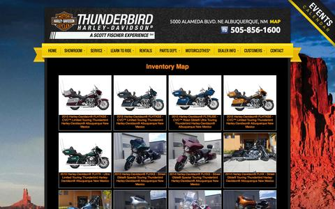 Screenshot of Site Map Page thunderbirdhd.com - Inventorymap   Thunderbird Harley-Davidson®   Albuquerque New Mexico - captured Oct. 7, 2014