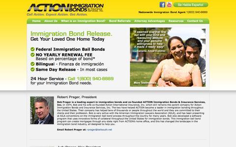 Screenshot of Team Page immigration-bail-bonds.com - Immigration Bond Team   Action Immigration Bonds - captured Feb. 6, 2016