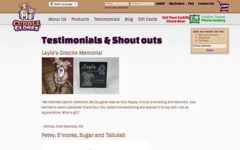 Testimonials & Reviews | Cuddle Clones