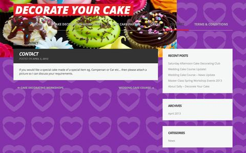 Screenshot of Contact Page decorateyourcake.co.uk - Contact - Decorate Your Cake - captured Sept. 30, 2014