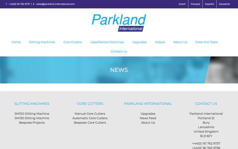 Screenshot of Press Page parkland-international.com - News | Parkland International - captured July 15, 2018