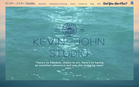Screenshot of Home Page kevinjohnstudio.com - kevinjohnstudio - captured Oct. 15, 2018