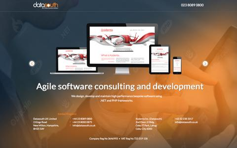 Screenshot of Team Page datasouth.co.uk - Datasouth - Concrete5 Website and Application Development - captured Oct. 5, 2014