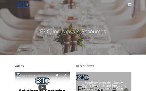 Screenshot of Press Page fsici.com - Restaurant Industry Resources - FSIC, Inc. Blog - captured Nov. 14, 2018