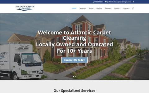 Screenshot of Home Page atlanticcarpetcleaningnc.com - Atlantic Carpet   - captured Aug. 30, 2015