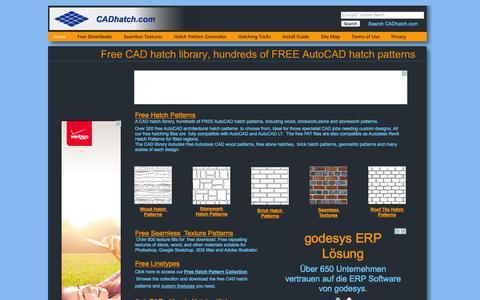 Screenshot of Home Page cadhatch.com - CAD Hatch   Hundreds of Free AutoCAD Hatch Patterns - captured Sept. 22, 2014