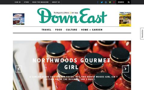 Screenshot of Home Page downeast.com - Travel, Food, Culture | Down East Magazine: The Magazine of Maine - captured Oct. 2, 2015