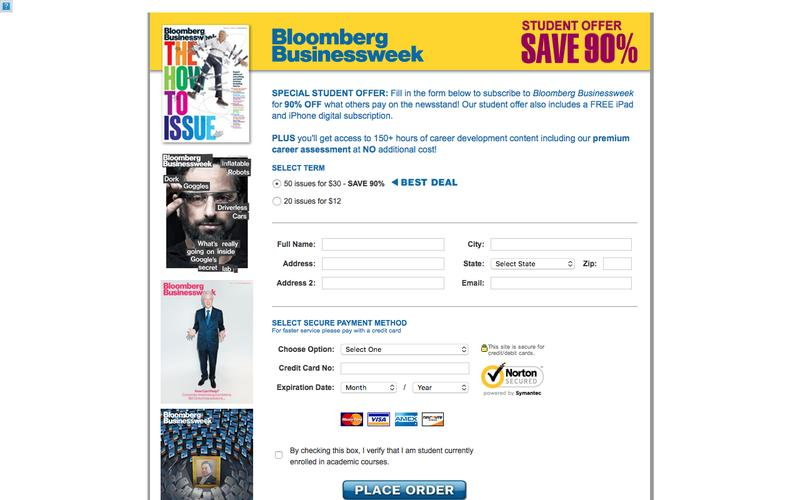 Bloomberg Businessweek | Special Offer Save 90%