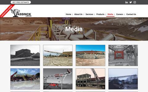 Screenshot of Press Page assinck.com - Media - ASSINCK LIMITED - captured Oct. 4, 2018