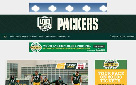 Screenshot of Home Page packers.com - Packers.com, the official website of the Green Bay Packers - captured March 16, 2019