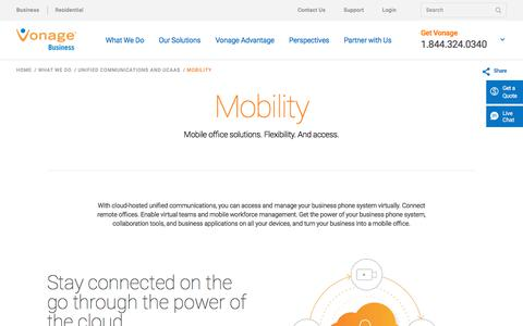Mobile Office Solutions | Vonage Business
