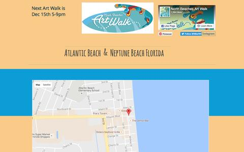 Screenshot of Maps & Directions Page nbaw.org - North Beaches Art Walk   MAP - captured Nov. 30, 2016