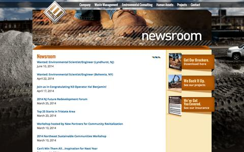 Screenshot of Press Page impactenvironmental.com - NewsRoom | Impact Environmental - captured Sept. 30, 2014