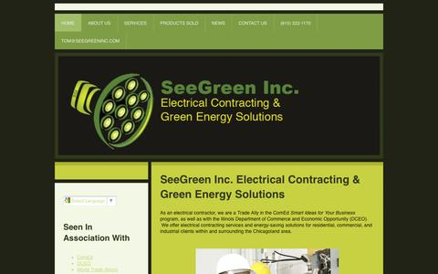 Screenshot of Home Page seegreen-inc.com - Home - SeeGreen Inc. - captured Sept. 30, 2014