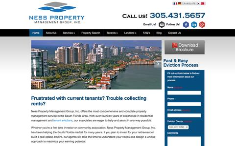 Screenshot of Home Page npmginc.com - Property Manager Miami | Tenant Screening & Evictions - captured Oct. 7, 2014