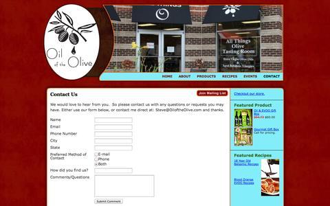 Screenshot of Contact Page northstreetmarket.com - North Street Market > Contact Us - captured Oct. 1, 2014