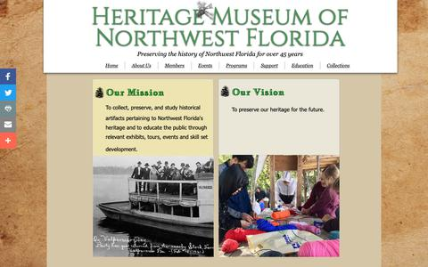 Screenshot of About Page Contact Page heritage-museum.org - Contact Us | Heritage Museum of Northwest Florida - captured Dec. 14, 2018