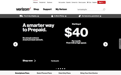 Prepaid Cell Phones & No Contract Plans | Verizon Wireless